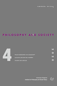 View Vol. 31 No. 4 (2020): Filozofija i društvo / Philosophy and Society